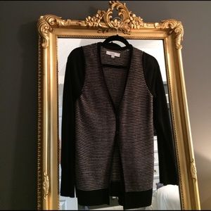 Loft sweater. Black, white and gold. Size, s.