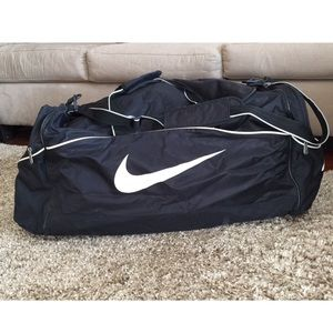 HUGE Nike Black Duffel Bag