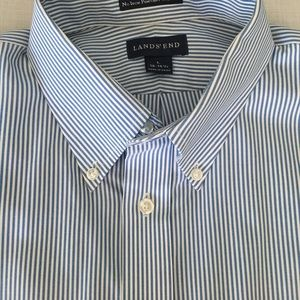 Lands End Men's No Iron Pin Point Button Down