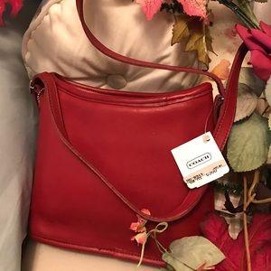 Coach Vintage New, Old Stock Red Shoulder Bag