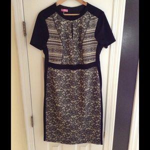 Basler Dresses & Skirts - NWT Basler black & grey lace dress short sleeve
