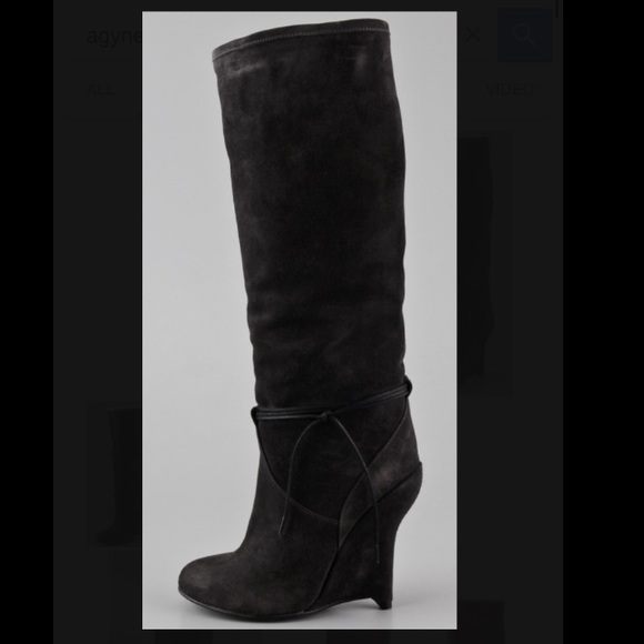 Opening Ceremony Agyness Suede Wedge Boots sale sneakernews discount finishline sOln7khx