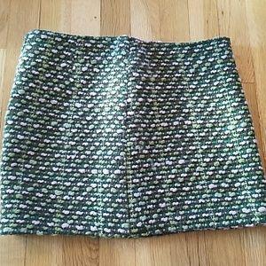 United Colors Of Benetton Dresses & Skirts - GREEN AND PINK BENETTON TWEED SKIRT