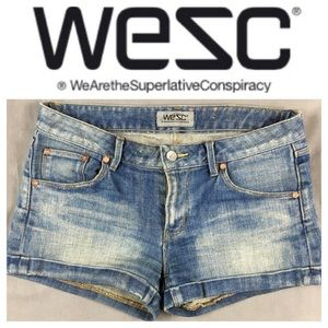 Wesc Pants - 💙WESC Denim cuff Roxanne short in size 26