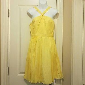 100% silk yellow summer dress!