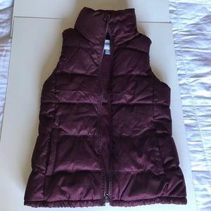New Burgundy Puffer Vest
