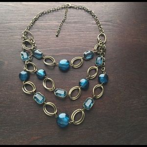 Jewelry - Bronze and Teal Statement Necklace