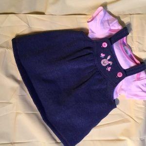 Vitamins Baby Other - Baby girl denim look jumper with onesie 6 m
