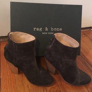 Rag & Bone suede classic newbury asphalt booties
