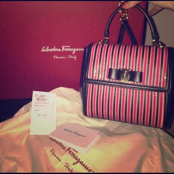 8d846b32f07a Brand New Salvatore Ferragamo Carrie Bag