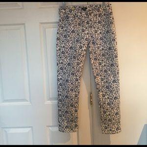 J Crew Floral Print Jeans