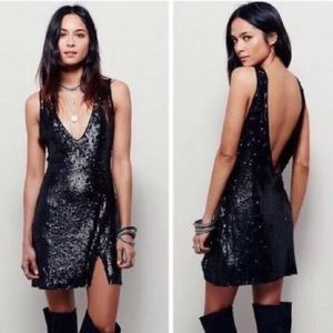 Free People Black Sequin Dress