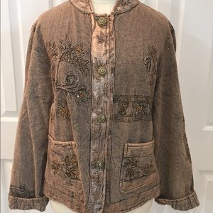 Flashback Jackets & Blazers - Embellished Vintage Button Down Jacket Large