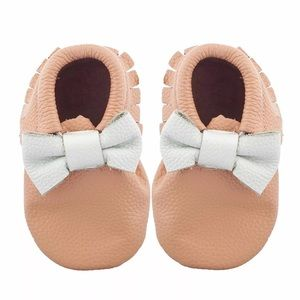 Other - Baby Bow Moccasins • 100% Genuine Leather