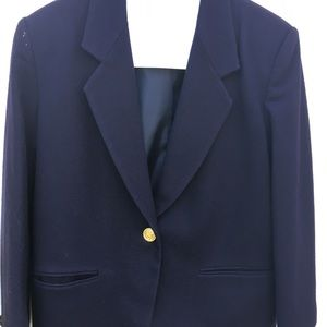 Petite Sophisticate Jackets & Blazers - Vintage Navy Blazer