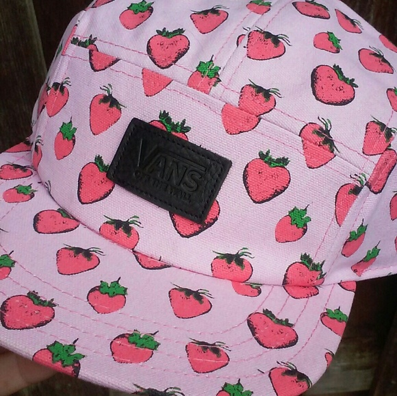 794fff9c190 Vans Strawberry Kawaii Pink Hat NWT