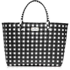 Large Kate Spade Checkered Tote Bag