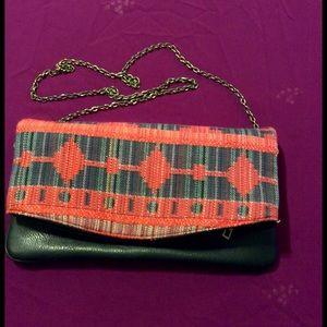 Urban Expressions Handbags - Aztec Style Print Clutch/Cross body Purse