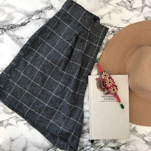 NATIVE YOUTH Pants - NWT High Waisted Checked Short