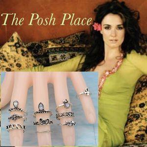 Jewelry - 🖐🏼 All Ten 🤚🏼 Silver Midi Rings One Price 👍🏼