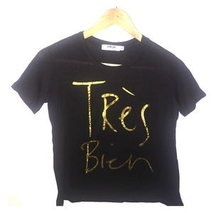 "CHRLDR Tops - ""Tres Bien"" French Tee (Youth/Adult)"