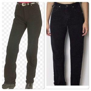 Wrangler Denim - ✔️VINTAGE✔️Black Wrangler worn jeans