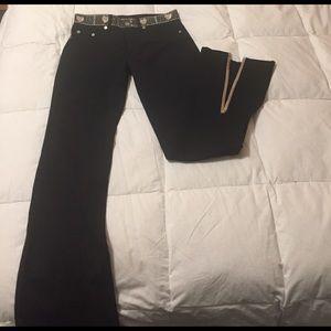 Vertigo Paris Pants - Black pants with embroidery, Vertigo Paris