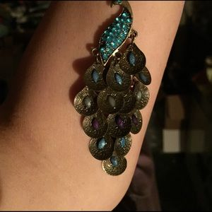 ALLOY Jewelry - New Vintage Peacock Pendant with long bronze chain