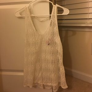 love on a hanger Tops - White Lace tank