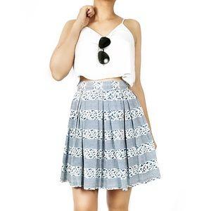 Armani Jeans Dresses & Skirts - Armani jeans floral print pleated cupcake skirt