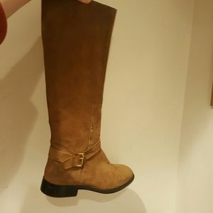 Zara 41 brown suede boots whiskey color