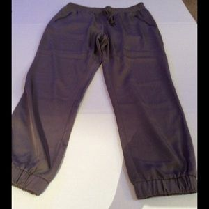 Pants - Taupe elastic ankle pants