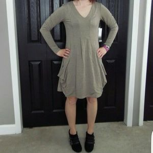Kensie French Terry Draped Dress