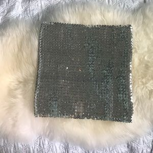 Tops - Silver sequin tube top  great for Coachella!!