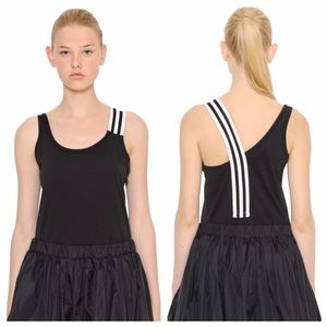 Y-3 Tops - Y-3 Striped Layer Workout Tank Top
