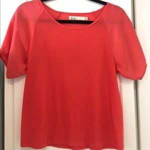 Madewell T-Shirt with Silk Sleeves