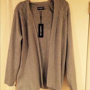 Karl Lagerfeld Sweaters - Silver/Gray Cardigan by Karl Lagerfeld.