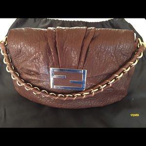 d68bdc2f38b4 Fendi Bags - Fendi Mama Mia Satchel in Brown