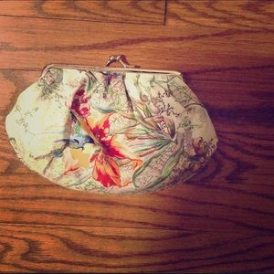 Paul & Joe Handbags - Anthropologie silk  hummingbird clip purse