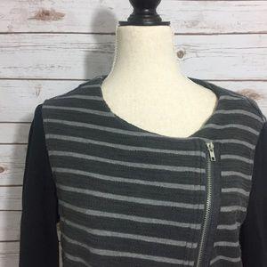 Nordstrom Tops - Paraphrase Striped Asymmetrical Cotton Jacket