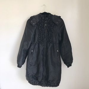 Anna Sui Jackets & Blazers - Anna Sui Ruffled Puffer Trench Coat Jacket