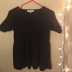 Tops - LOFT black babydoll top