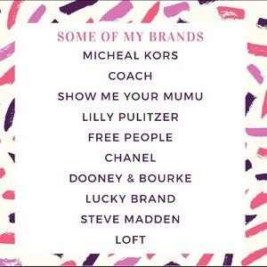 Brands I carry!