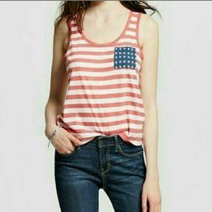 Fifth Sun Tops - Patriotic Crop Tank Top