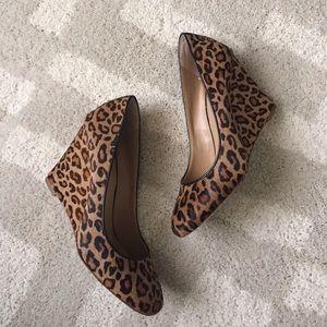 Leopard print wedge