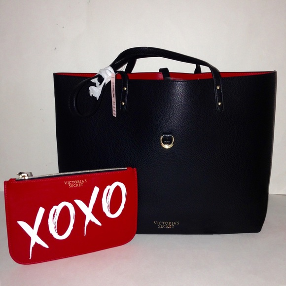 Victoria S Secret Bags Victorias Secret Black Tote And Red Xoxo