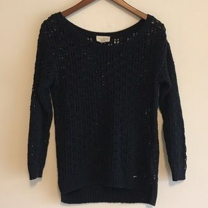 Gilly Hicks Sweaters - Gilly Hicks Navy Crochet Sweater