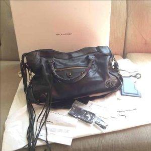 Balenciaga Handbags - Anthracite Balenciaga motorcycle city bag