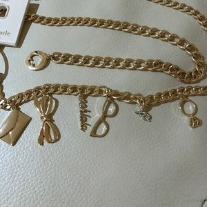 ❤️Kate spade ♠️ chain belt with charms nwt