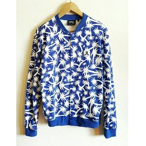 Wesc Other - WESC palm tree print fleece varsity bomber jacket